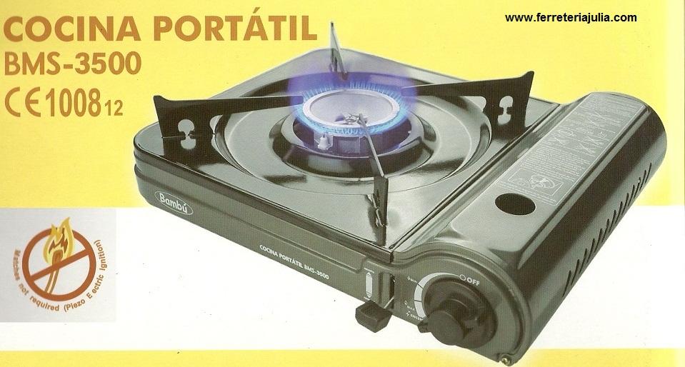 Cocina port til a gas ferreter a juli - Cocina portatil gas ...