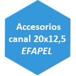 accesorio canal 20x12,5 Efapel