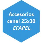 accesorio canal 25x30 Efapel