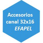 accesorio canal 32x16 Efapel