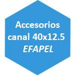 accesorio canal 40x12.5 Efapel