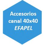 accesorio canal 40x40 Efapel