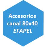 accesorio canal 80x40 Efapel