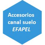 accesorio canal suelo Efapel