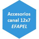 Accesorios canal 12x7 Efapel